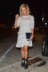 Ashley Tisdale in White Dress – Out in Los Angeles