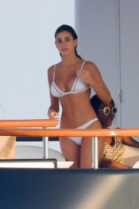 Camila Morrone in White Bikini on the yacht in St.Tropez