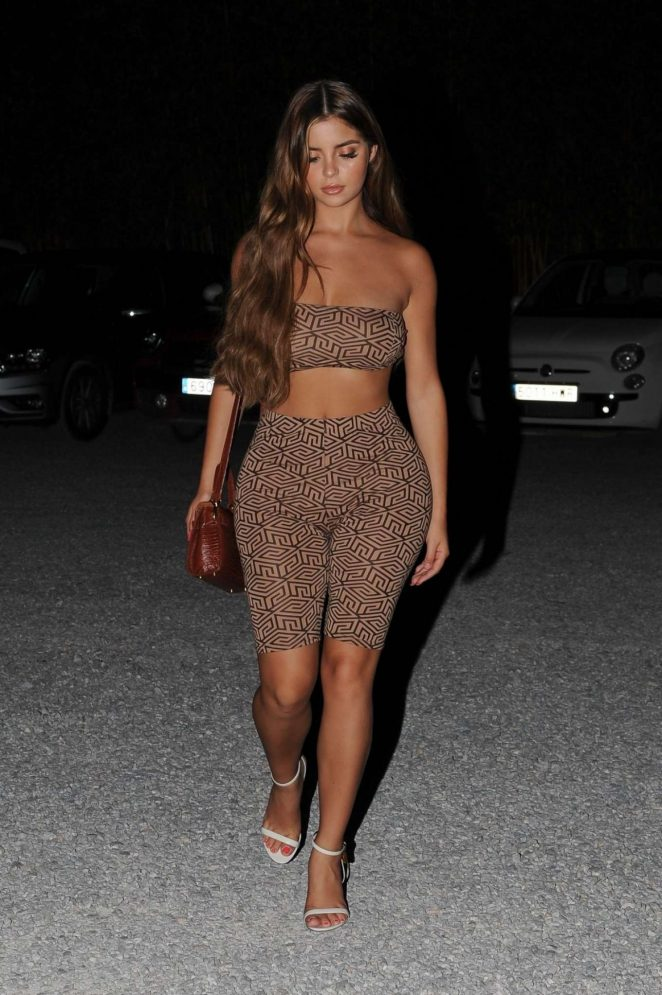 Demi Rose – Arriving for dinner at Bambuddha Restaurant in Ibiza
