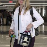 Kate Upton and her dog Harley at LAX Airport in Los Angeles