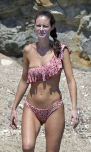 Marica Pellegrinelli in Bikini on the beach in Mykonos