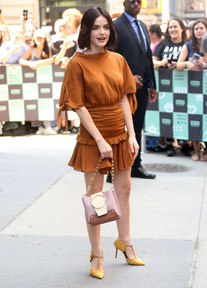 Lucy Hale – Arrives at the AOL Build Series in New York City