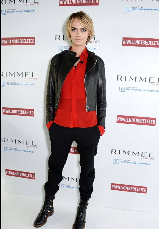 Cara Delevingne – Launch of #IWILLNOTBEDELETED Campaign by Rimmel in London