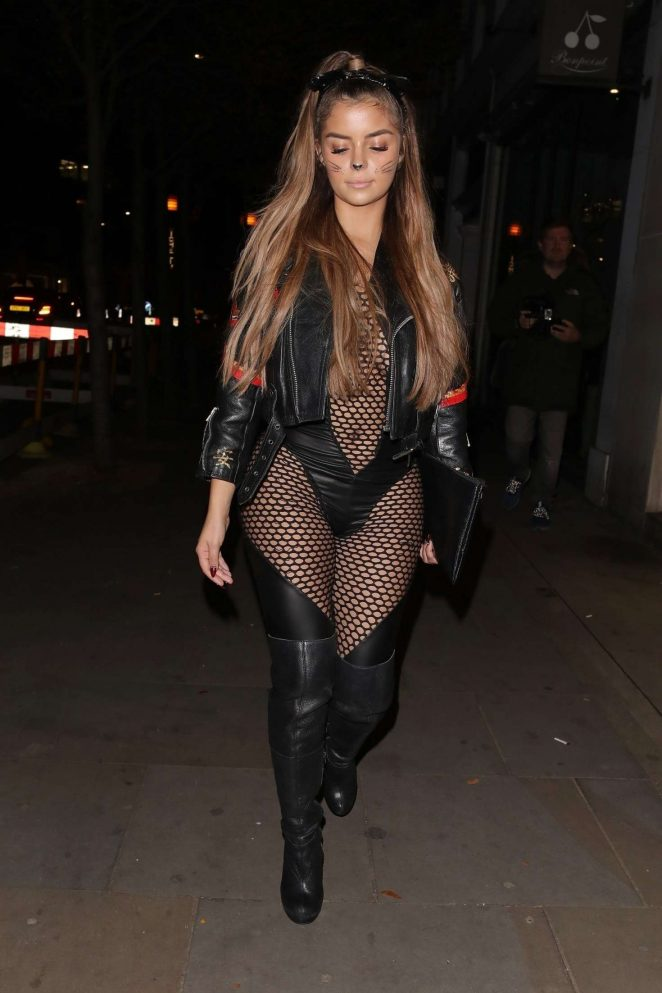 Demi Rose at Halloween Party at Ours in London