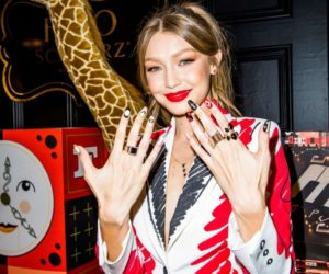 Gigi Hadid – Promoting her new soldiers uniforms for FAO Schwartz in NYC