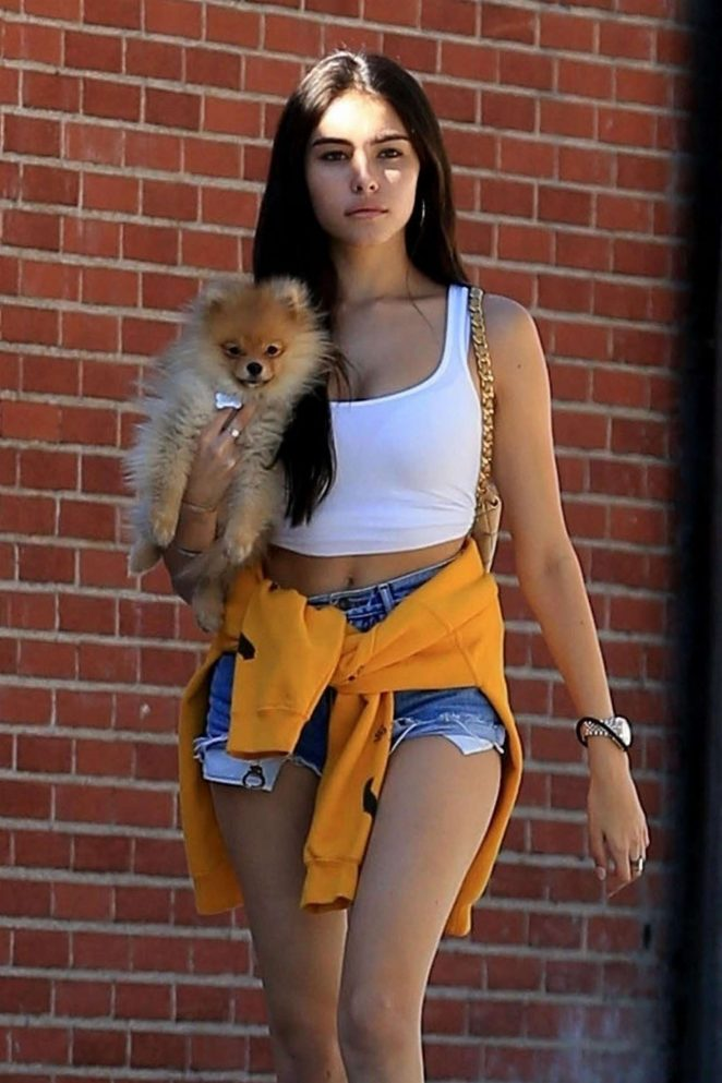 Madison-Beer-in-Denim-Shorts-Out-in-West-Hollywood
