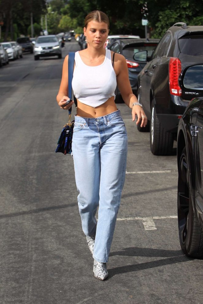 Sofia Richie in White Top – Out in Los Angeles