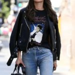 Alessandra Ambrosio – Leaving her hotel in Los Angeles