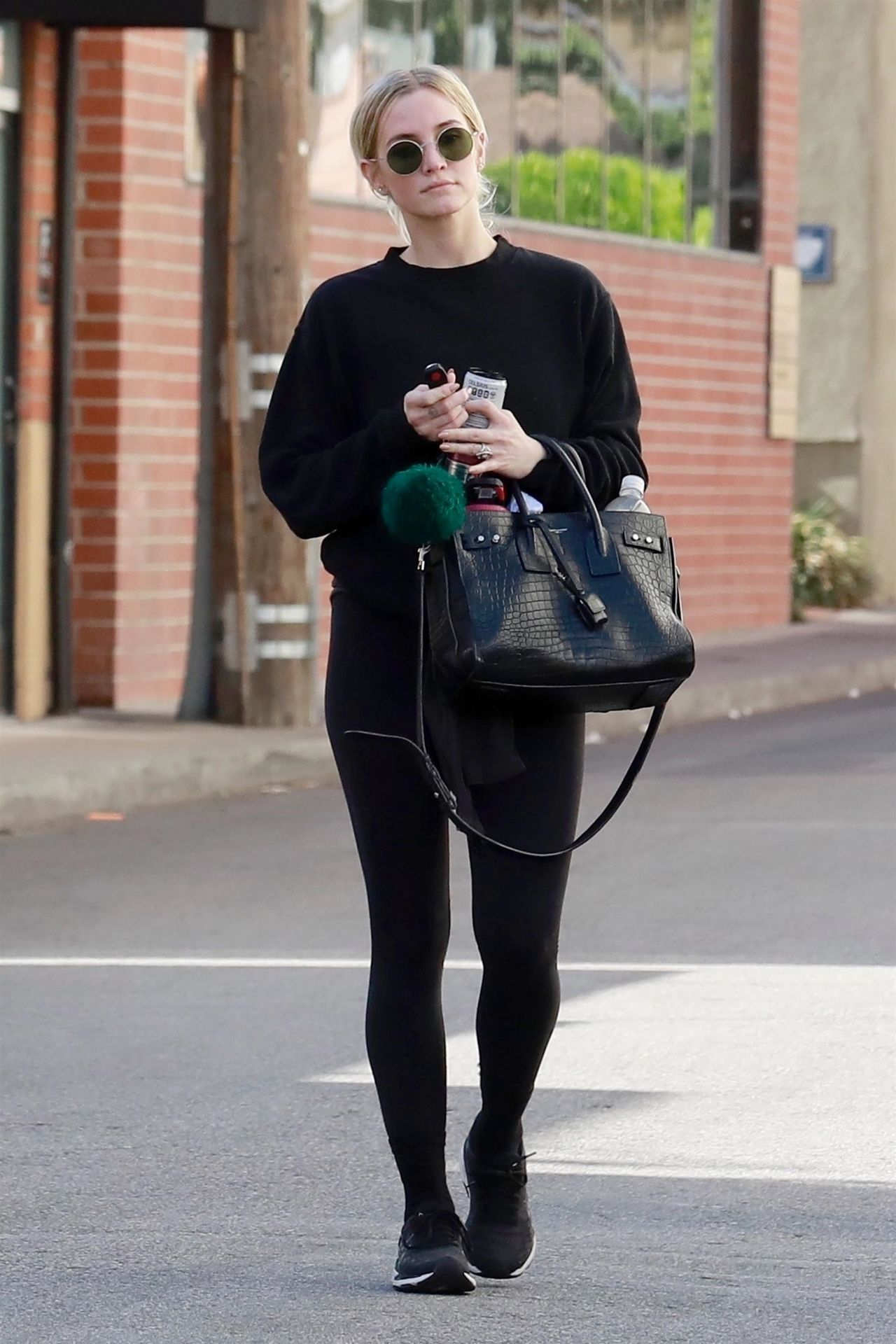 Ashlee Simpson in All Black Outfit – Studio City