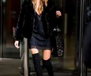Martha Hunt – Leaving the Victoria's Secret offices in New York