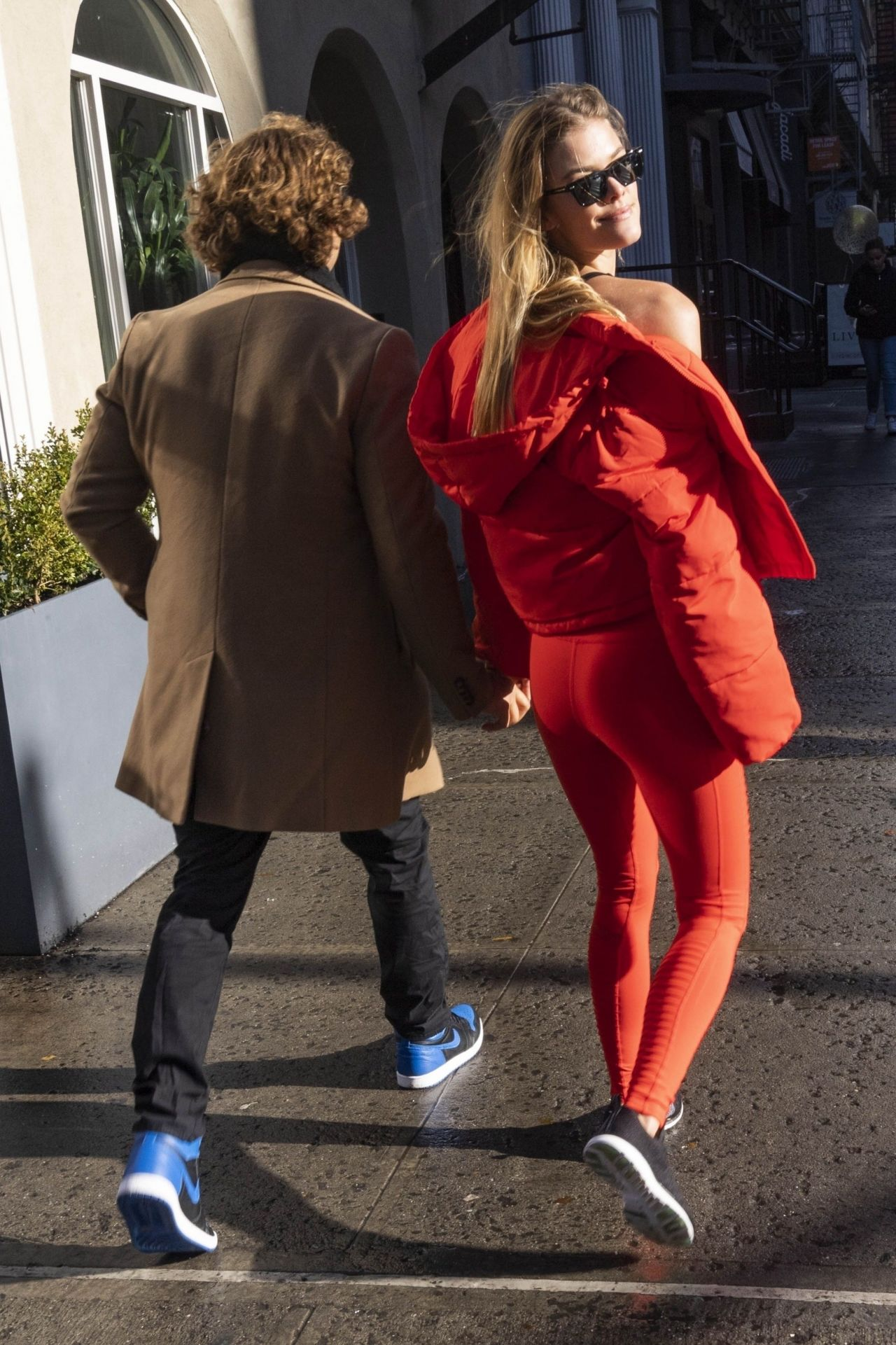 Nina Agdal – Lunch With Boyfriend Jack Brinkley-Cook in New York