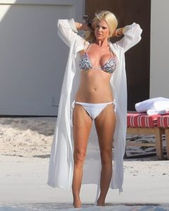 Victoria Silvstedt in Bikini at the Beach in St Barts