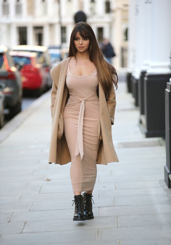 Demi Rose Street Style - LullaBellz Pop Up Boutique in London